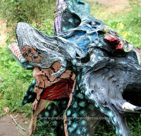 art work, nisargadhama, coorg