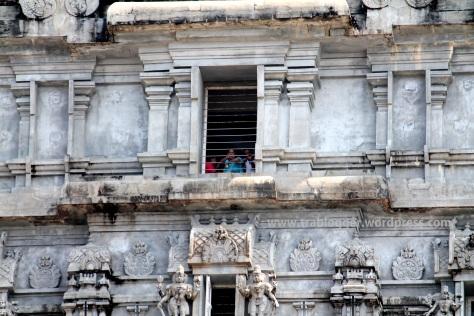 Looking outside from RajaGopura