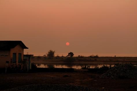 Village sunset