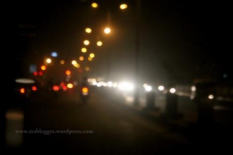 Bokelicious street at night