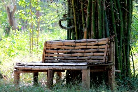 bamboo , bench, nisargadhama