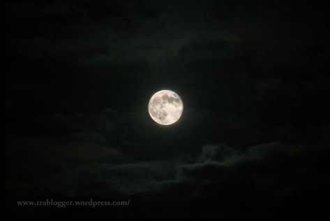 The moon and the clouds photography