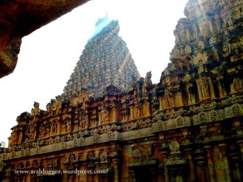 Sunlight kissed Thanjavur temple