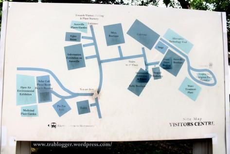 The vistor's centre layout