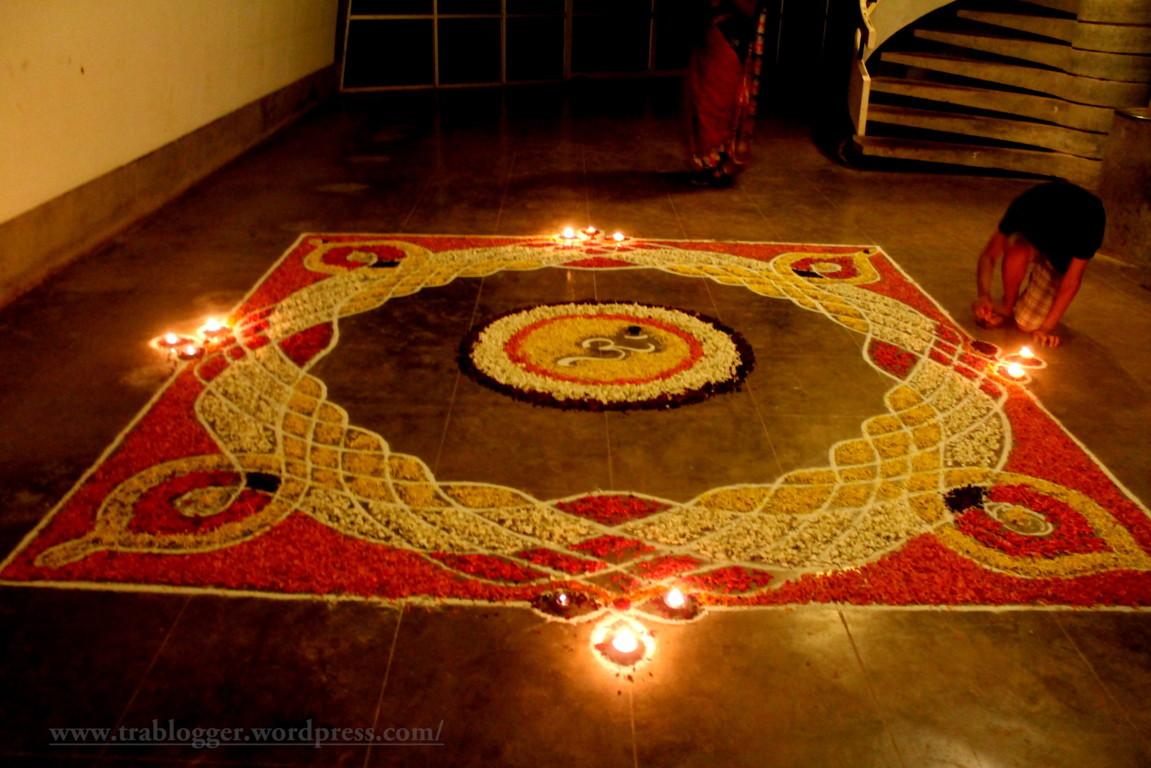 Floral carpet