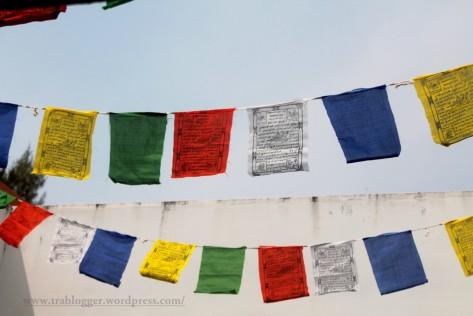 Prayer flags in Tibetan Pavilion