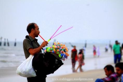 The man at the beach