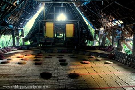 Even the main hut looked sad