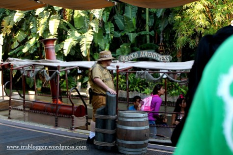 At the starting point of Jungle Cruise