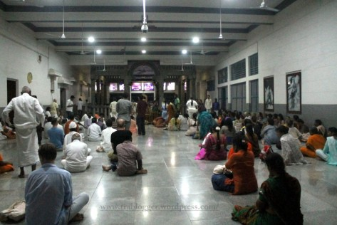 chanting at Ramanashram