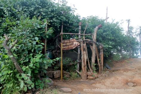 small hut/cave where Sri Ramana meditated