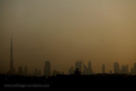 Dubai Sky scraper Silhouette