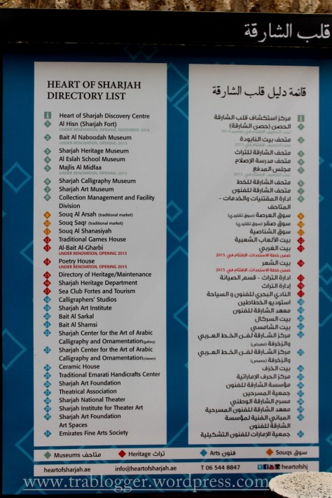 Heart of Sharjah Directory list