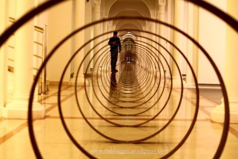 Steel Rings Installation at Sharjah Art Museum
