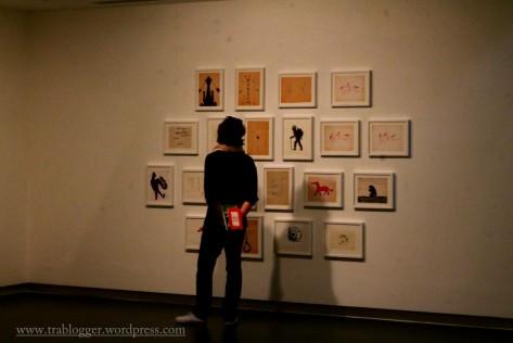 Admiring the art at Sharjah Art Museum
