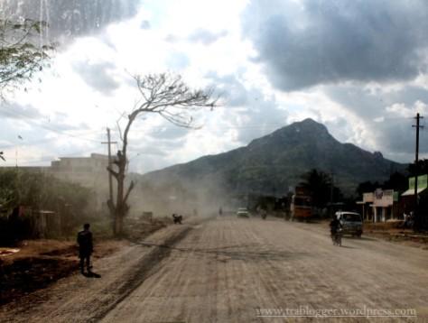 Rough road leading to Tough mountain