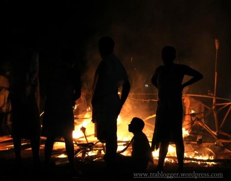 Sitting around the fire