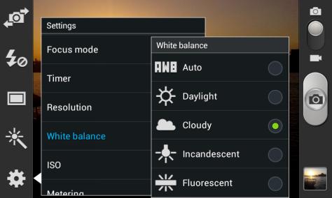 Changing the White Balance