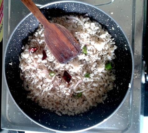 White rice flake Upma