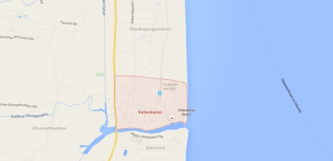 Location of Velankanni