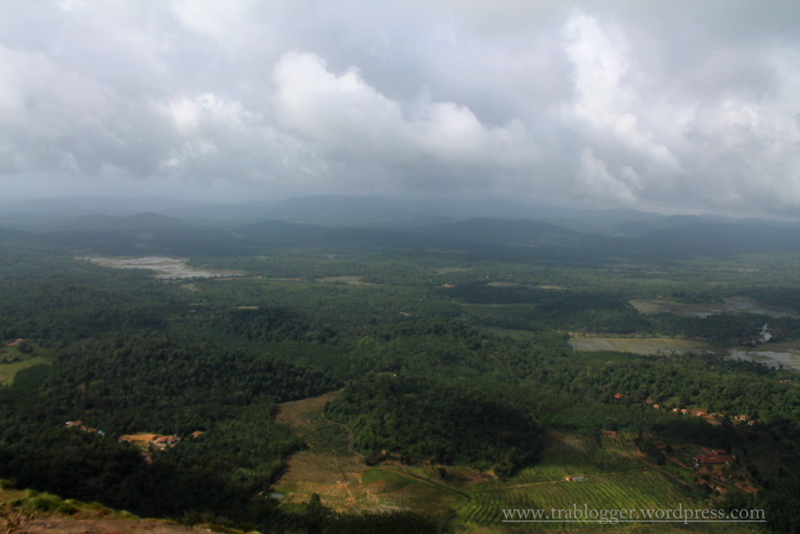 View from Kundadri Hills, shimoga