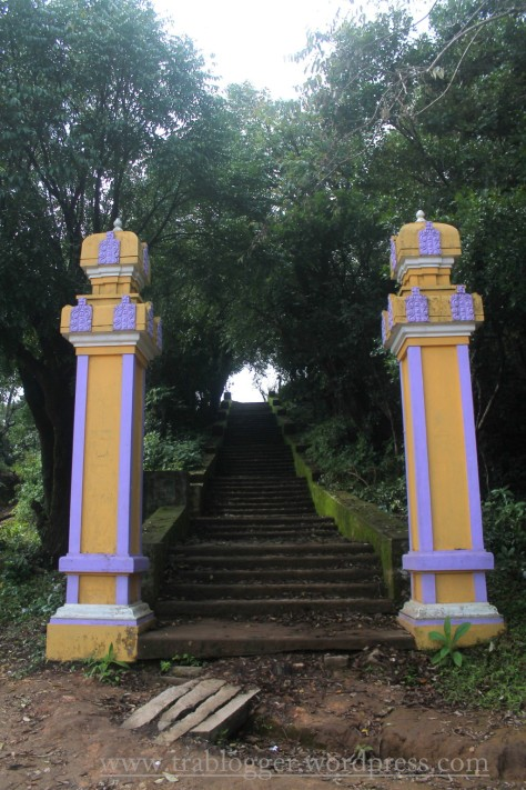 Steps to Kundadri Hills