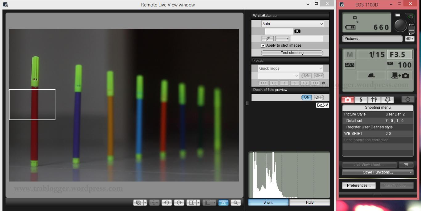 Shutter Speed 1/15; f/3.5, ISO 100