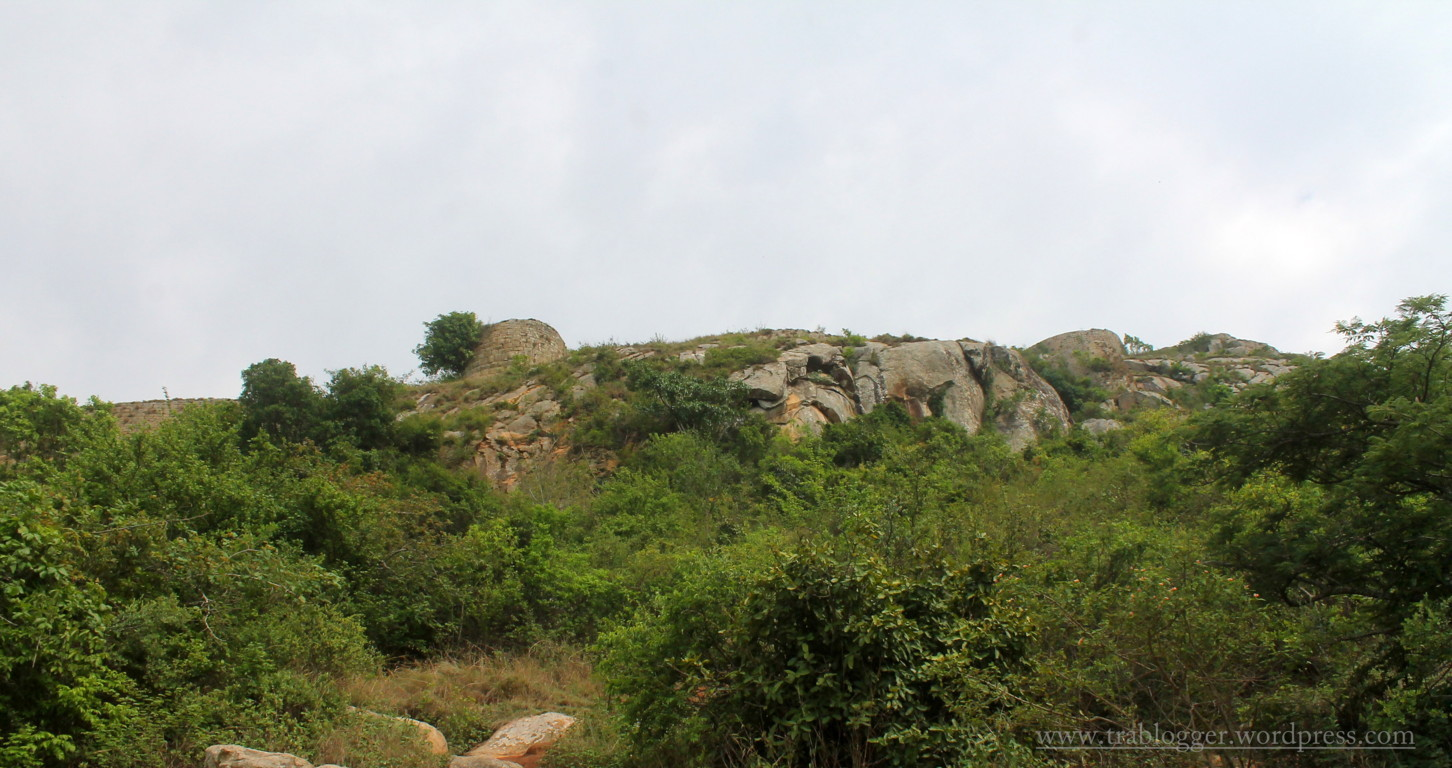 First sighting of fort wall of skandagiri