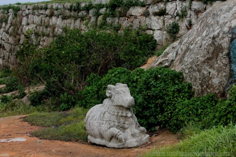 Nandi at Skandagiri